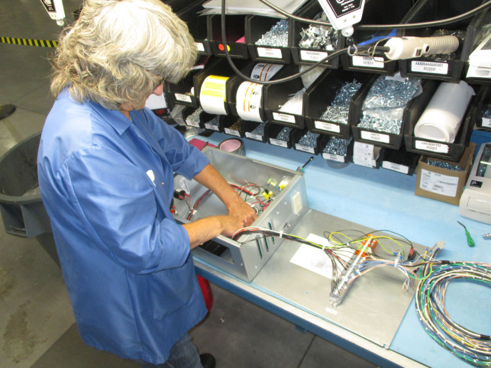 Whitesell Assembler performs wiring and assembly of large item supplied finished, tested and ready to use to the customer.