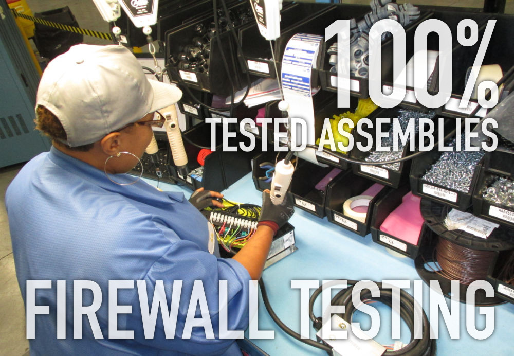 FIREWALL TESTING FOR 100 Percent Tested Assemblies x