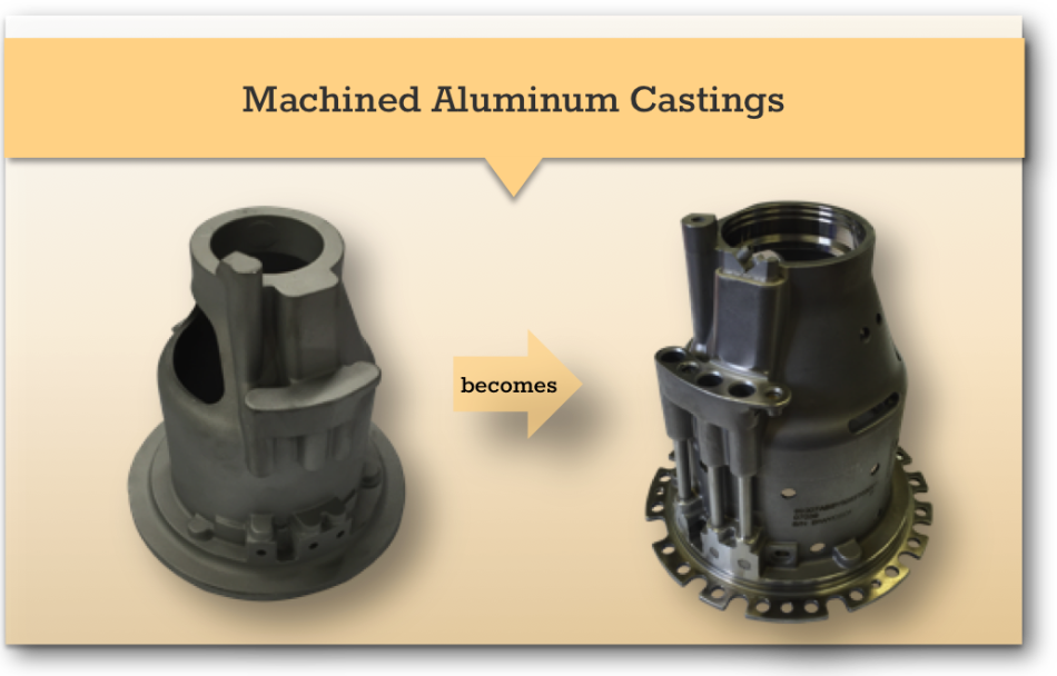 machined aluminum castings x